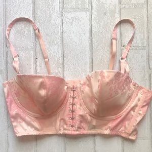 Victoria's Secret pink floral bustier bra 36B